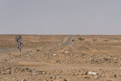 Strada sul Sahara fotografie stock