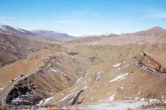 strada sull'alta montagna di atlante Fotografie Stock Libere da Diritti