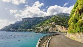 Strada sulla costa di Amalfi Fotografia Stock