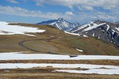 Strada sulla montagna del colorado Immagini Stock Libere da Diritti