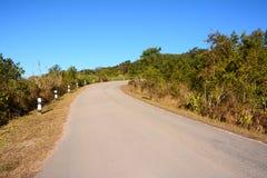 Strada sulla montagna di Phu Rua Immagine Stock