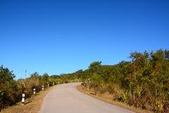Strada sulla montagna di Phu Rua Fotografia Stock