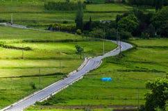 Strada sulla valle Immagine Stock Libera da Diritti