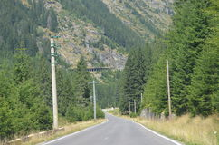 Strada sulle montagne Fotografie Stock Libere da Diritti