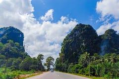 Strada tailandese rurale Fotografie Stock