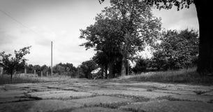Strada tedesca della Germania Est del ciottolo Fotografia Stock Libera da Diritti