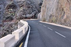 Strada in Tenerife Fotografia Stock