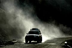 Strada tibetana Fotografia Stock Libera da Diritti