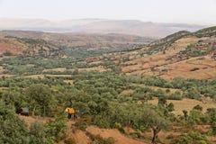 Strada Tizi-n-Tichka Marocco Fotografie Stock