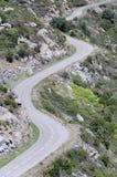 Strada tortuosa della montagna Fotografia Stock