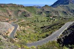 Strada tortuosa, Gran Canaria Fotografia Stock Libera da Diritti