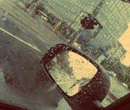 Strada trasversale della città dopo pioggia Immagine Stock Libera da Diritti