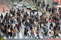 Strada trasversale di hachiko di Tokyo Fotografie Stock