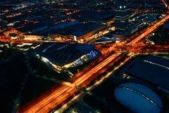 Strada trasversale di Monaco di Baviera alla notte Fotografie Stock Libere da Diritti