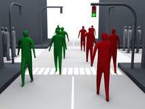 Strada trasversale umana #1 Immagini Stock Libere da Diritti