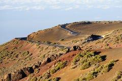 Strada Twisty in EL Teide, Tenerife Fotografia Stock