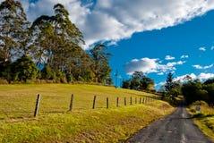 Strada in un paesaggio rurale pacifico fotografia stock libera da diritti