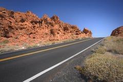 Strada in valle di fuoco Fotografia Stock