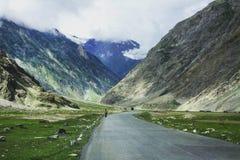 Strada in valle di Zanskar Fotografia Stock