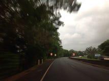 Strada veloce che precipita oltre Fotografia Stock