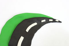 Strada verde Immagini Stock