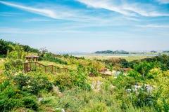 Strada verde della traccia e del parco in Daebudo, l'Ansan, Corea Fotografie Stock