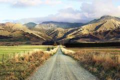 Strada-viaggio in Nuova Zelanda Fotografia Stock Libera da Diritti