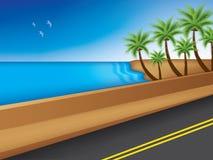 Strada vicino al mare Immagine Stock