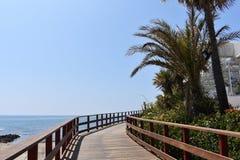 Strada vicino alla spiaggia Immagini Stock
