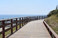 Strada vicino alla spiaggia Fotografia Stock Libera da Diritti