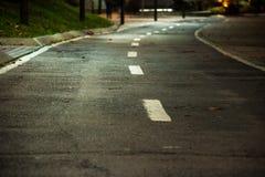 Strada vuota Fotografia Stock