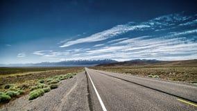 Strada vuota del Nevada Fotografia Stock Libera da Diritti