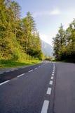 Strada vuota della campagna Immagini Stock
