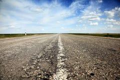 Strada vuota della campagna Fotografie Stock