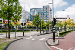 Strada vuota di Eindhoven Fotografia Stock