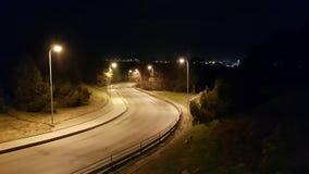 Strada vuota di notte fotografia stock