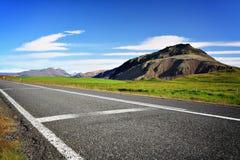 Strada vuota in Islanda Fotografia Stock