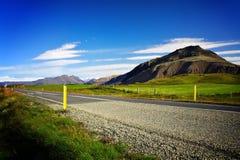 Strada vuota in Islanda Fotografie Stock