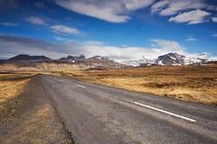Strada vuota in Islanda Immagine Stock Libera da Diritti