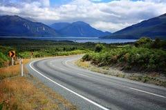 Strada vuota in Nuova Zelanda Immagini Stock