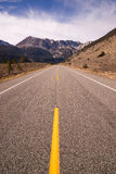 Strada Yosemite NP California del passaggio di Tioga dell'entrata della strada principale 120 Fotografia Stock Libera da Diritti