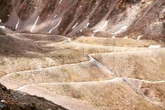 Strada a Zanskar Fotografia Stock