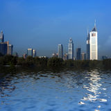 Strada zayed sceicco, Doubai, Emirati Arabi Uniti Immagine Stock