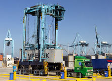 Free Straddle Carrier Container Truck Stock Photos - 57525993