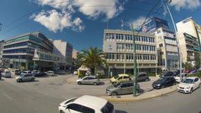 Strade affollate della Grecia stock footage