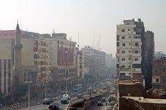 Strade affollate di Cairo Immagini Stock