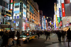 Strade affollate di Shinjuku Fotografia Stock Libera da Diritti