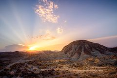 Strade al deserto - AlmerÃa Spagna fotografia stock libera da diritti