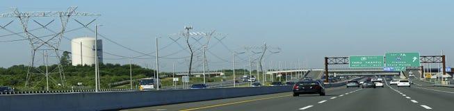 Strade americane, autostrada del New Jersey Fotografia Stock Libera da Diritti