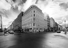 Strade dei negozi delle strade trasversali a Berlino La Germania, Europa Immagini Stock Libere da Diritti